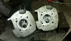 Aluminium Bike Head Built Up for Machining